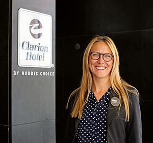 Therese Mårtensson, hotellchef på Clarion Hotel Amaranten