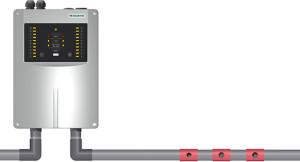 ASD 535 suger konstant in lufti röksensorn via samplingsrörfrån rum eller objekt som skaövervakas.