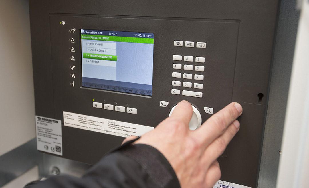 Securifire-system testas och justeras.