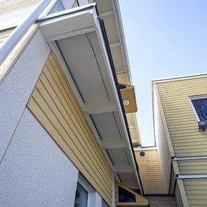 SISAB investerar i linjär värmedetektor. Takfotslarmet är väldigt diskret monterat.