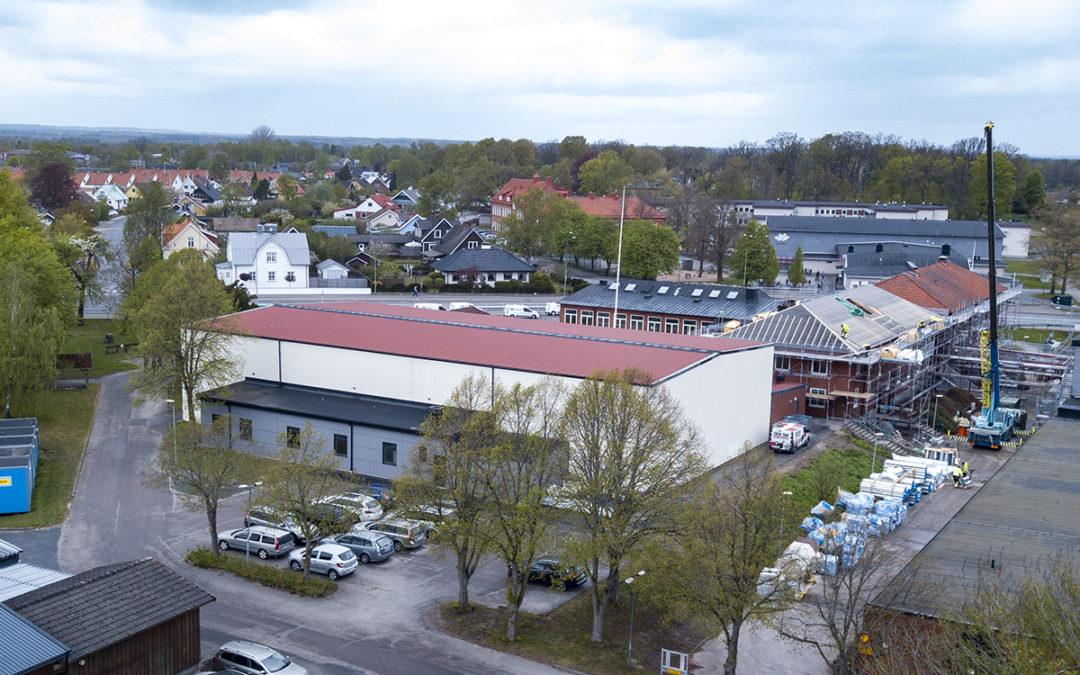 Stor brandlarmsanläggning till gymnasieskola i Hässleholm