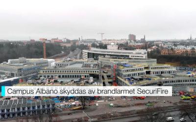 Campus Albano skyddas av brandlarmet SecuriFire